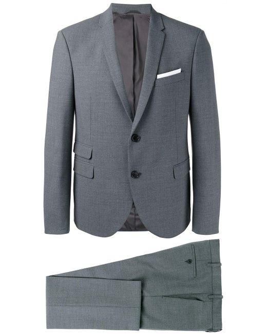 Neil barrett formal suit in gray for men lyst for Neil barrett tuxedo shirt