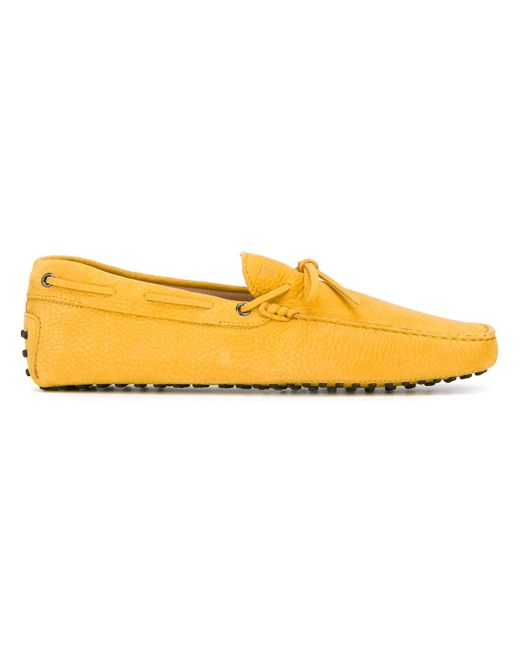 Tod's | Yellow Driving Shoes for Men | Lyst