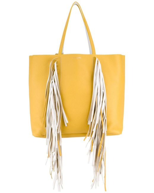 Sara Battaglia | Yellow Everyday Fringed Shopper Tote | Lyst
