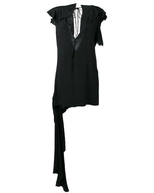 Marni | Black Asymmetric Draped Top | Lyst