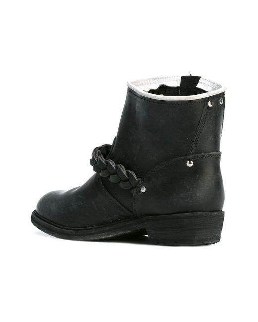 golden goose deluxe brand biker s boots in black lyst. Black Bedroom Furniture Sets. Home Design Ideas