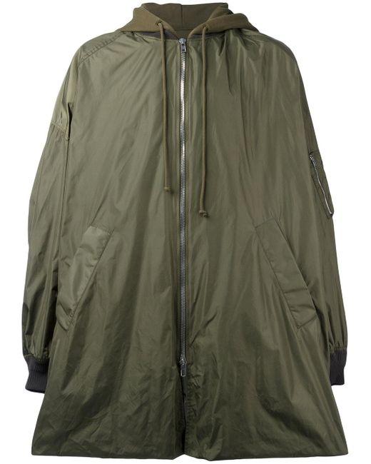 Juun.J | Green Hooded Oversized Coat for Men | Lyst