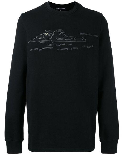 Markus Lupfer | Black Embroidered Crocodile Sweatshirt for Men | Lyst