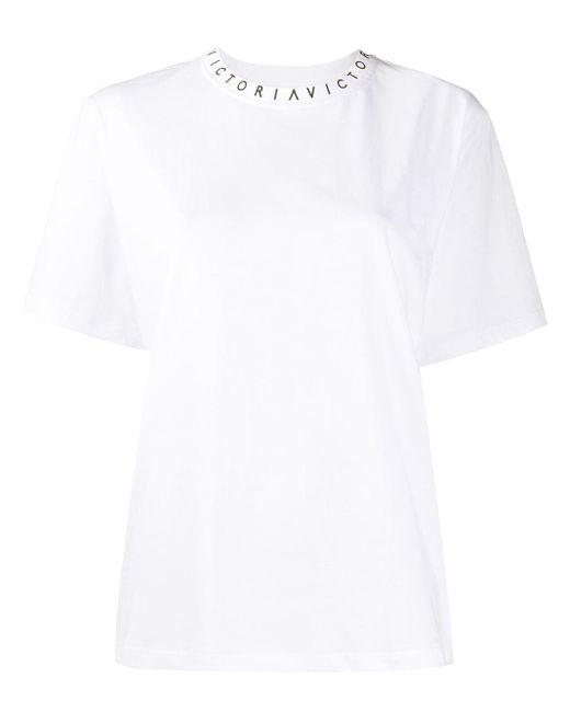 Victoria, Victoria Beckham ロゴ Tシャツ White