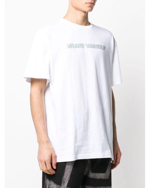 メンズ Liam Hodges スローガン Tシャツ White