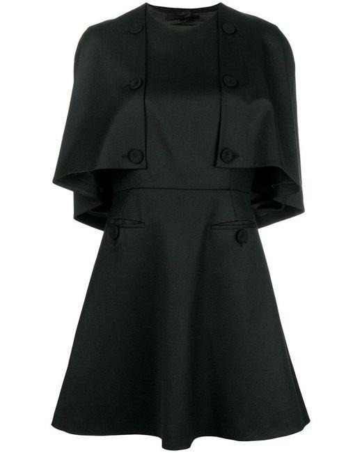 Sara Battaglia front buttons detail a-line dress - Negro IyeO6MS3hc