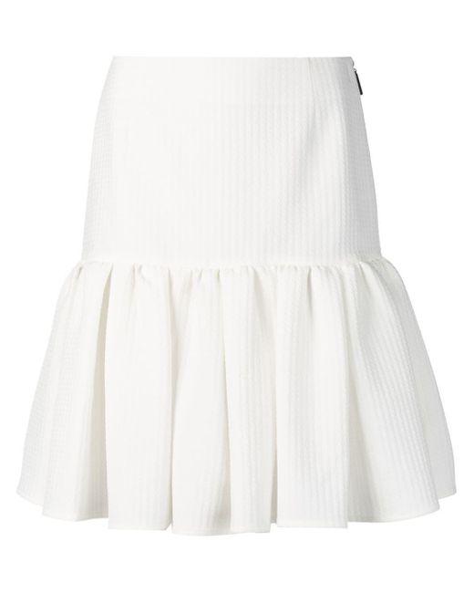 MSGM ラッフル ミニスカート White