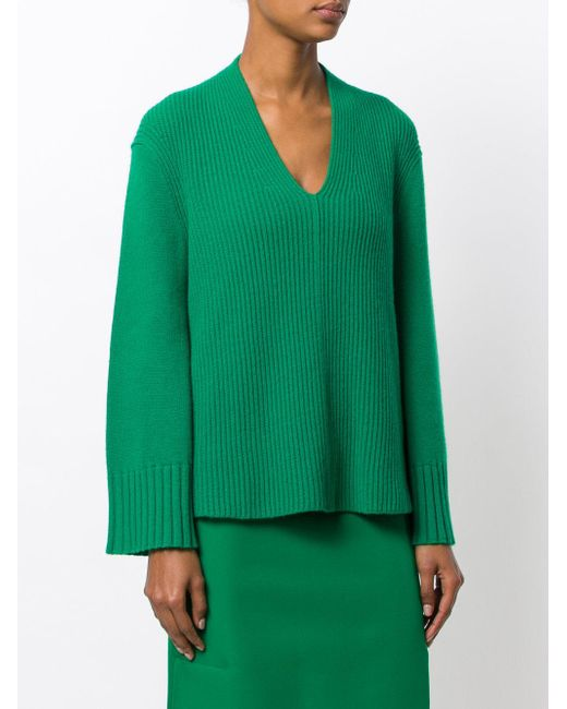 Pringle of scotland Ribbed Sweater in Green | Lyst