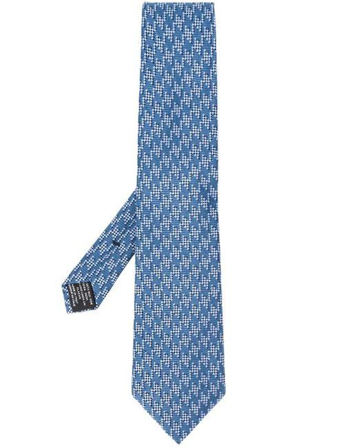 メンズ Tom Ford ジャカードニット ネクタイ Blue