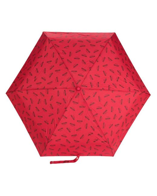 Moschino ロゴプリント 傘 Red