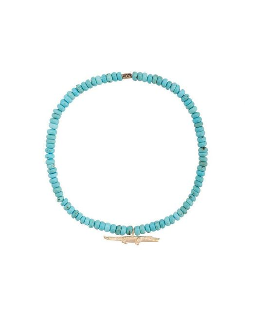 Luis Morais - Blue Medium Croc Spacer Bracelet - Lyst