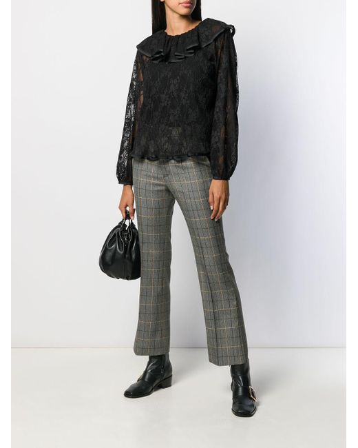 See By Chloé ラッフルネック ブラウス Black