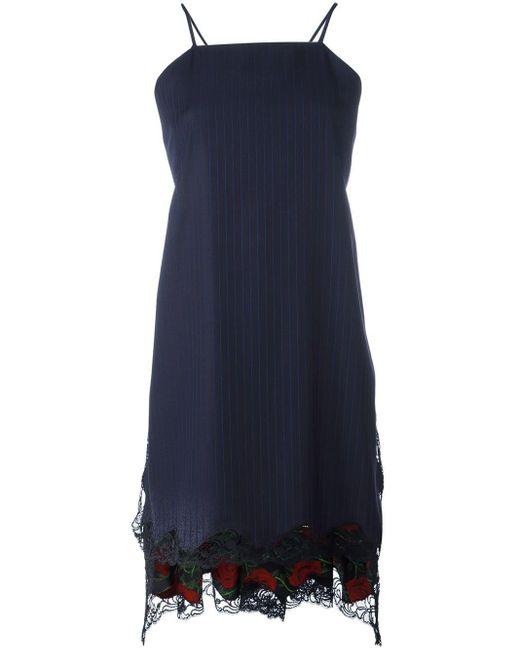 Alexander Wang Blue Flared Apron Dress