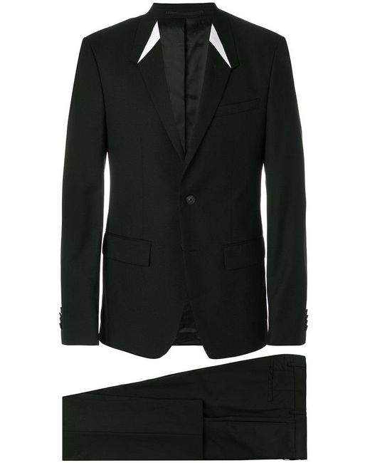 Givenchy - Black Single Breasted Suit for Men - Lyst