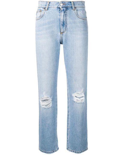 MSGM Blue Jeans mit geradem Bein
