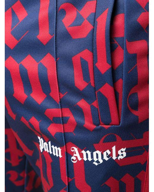 メンズ Palm Angels Broken Monogram トラックパンツ Red