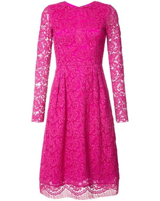 Adam Lippes | Pink Lace Dress | Lyst