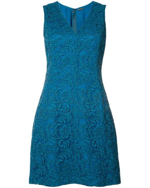 Adam Lippes | Blue Lace Mini Dress | Lyst
