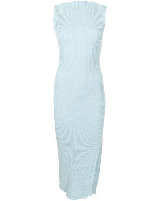 Anna Quan ノースリーブ ドレス Blue