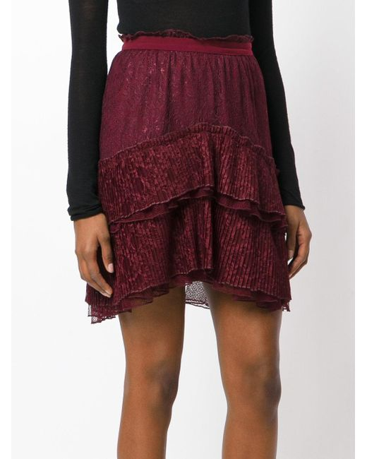 just cavalli high waisted skirt in purple lyst