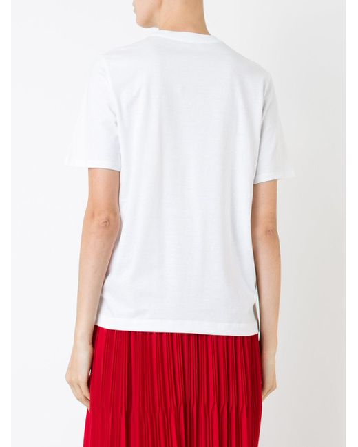 Markus Lupfer Sequin Lip Rose Patch T Shirt In White Lyst