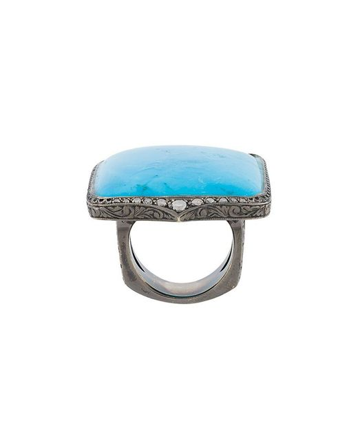 Loree Rodkin - Metallic Turquoise & Diamond Ring - Lyst