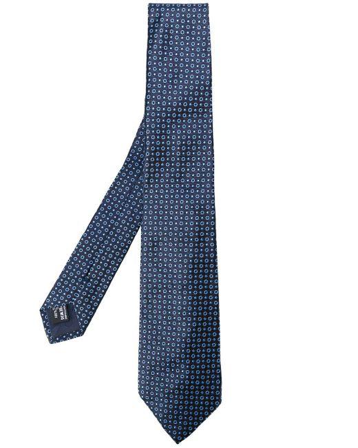 Giorgio Armani | Blue Patterned Tie for Men | Lyst