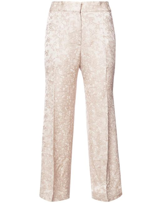 Protagonist | Natural Cropped Tailored Trousers | Lyst