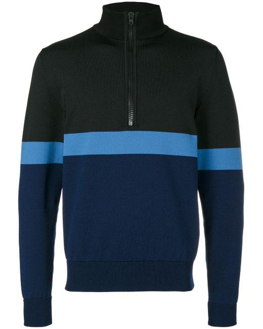 Givenchy | Black Striped Half-zip Sweatshirt for Men | Lyst