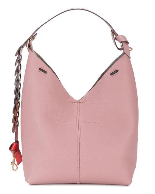 Anya Hindmarch | Small Pink Bucket Shoulder Bag With Circle Strap | Lyst