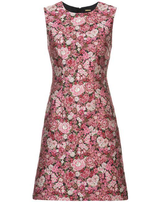 Adam Lippes | Pink Floral Pattern Sheath Dress | Lyst