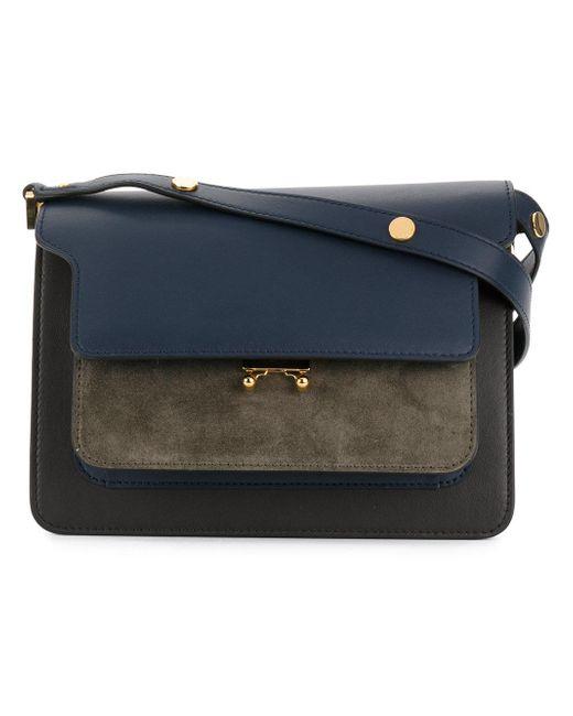 Marni   Blue Trunk Leather Shoulder Bag   Lyst