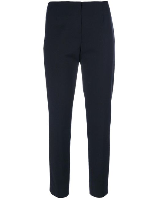Les Copains | Blue Cropped Tailored Trousers | Lyst
