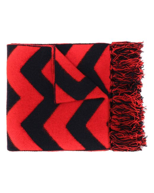 Mp Massimo Piombo | Red Arrow Pattern Scarf for Men | Lyst