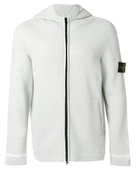 Stone Island | Green Knitted Hoodie for Men | Lyst