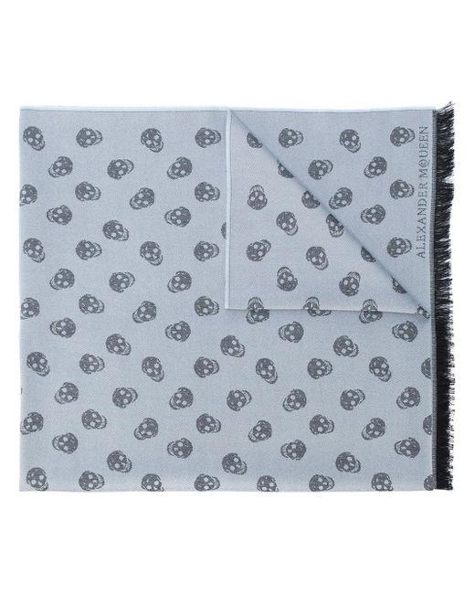 Alexander McQueen | Gray Skull Knit Scarf for Men | Lyst