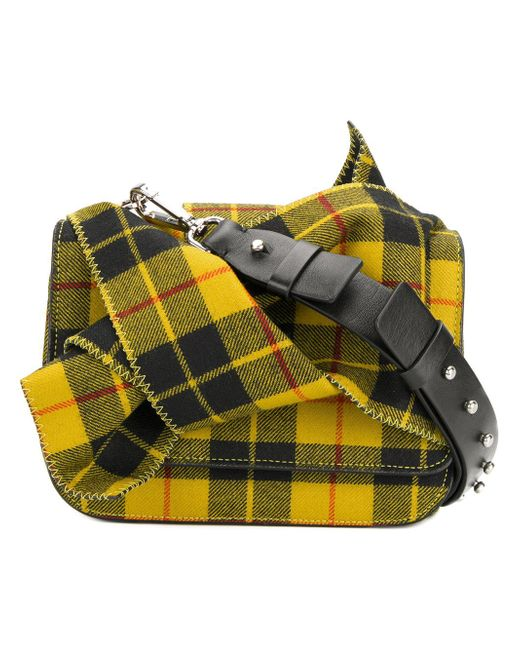 N°21 - Multicolor Checked Tartan Bow Shoulder Bag - Lyst
