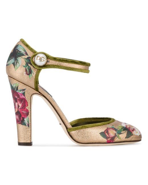 Dolce & Gabbana   Multicolor Hand Painted Mary Jane Pumps   Lyst