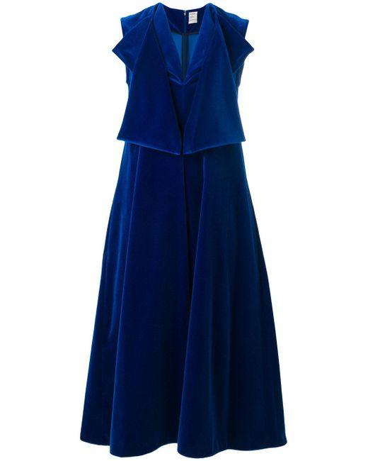 Maison Rabih Kayrouz | Blue Flared Midi Dress | Lyst