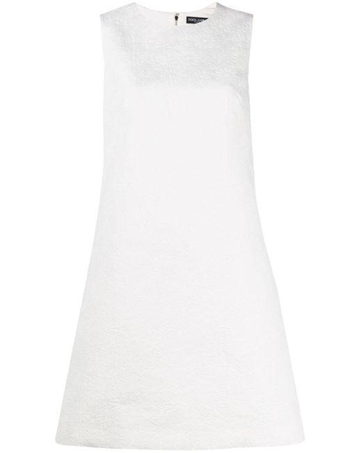 Платье-трапеция С Жаккардовым Цветочным Узором Dolce & Gabbana, цвет: White