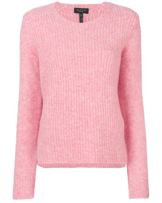 Rag & Bone | Pink Ribbed Detail Jumper | Lyst