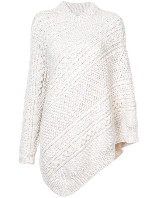 Rosie Assoulin | Multicolor Asymmetrical Knitted Cape Sweater | Lyst