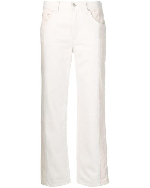 Укороченные Джинсы Alexander McQueen, цвет: White