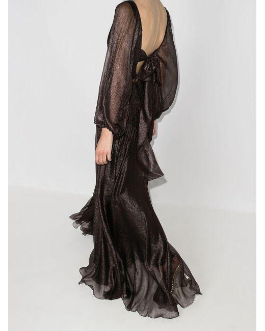 Maria Lucia Hohan Zeena シルク プリーツドレス Black