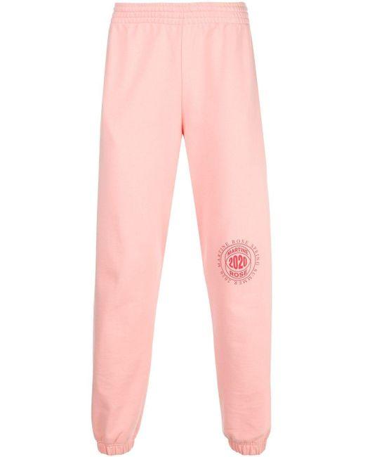 メンズ Martine Rose ロゴ トラックパンツ Pink