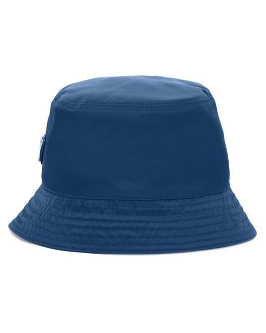 メンズ Prada ロゴ バケットハット Blue