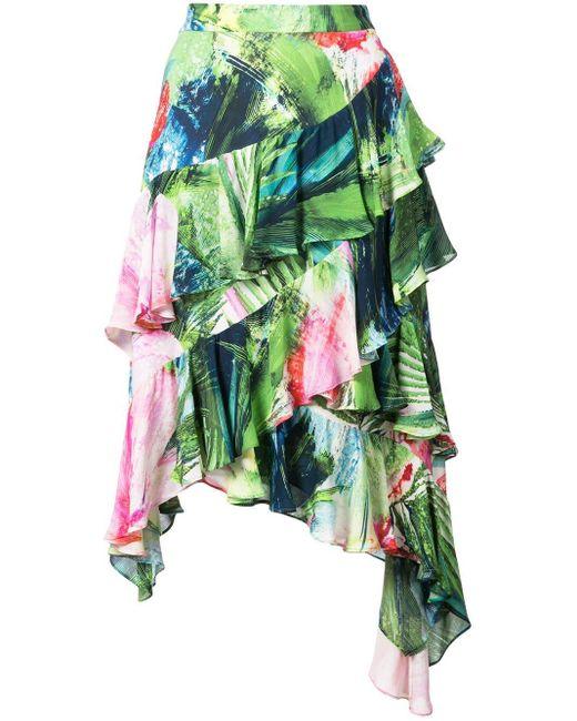 Josie Natori Sunset Palms スカート Green