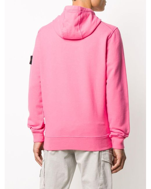 Худи С Нашивкой-логотипом Stone Island для него, цвет: Pink