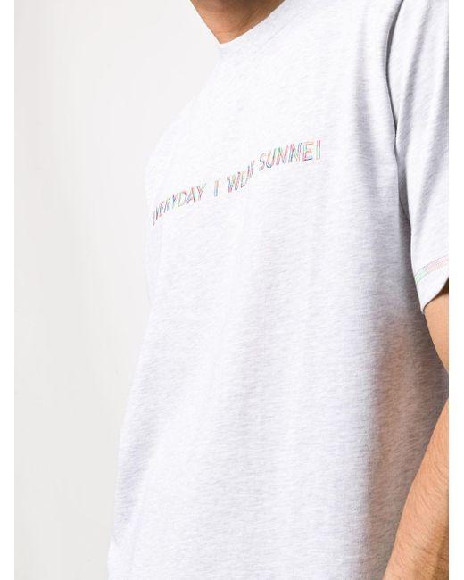 メンズ Sunnei スローガン Tシャツ Gray