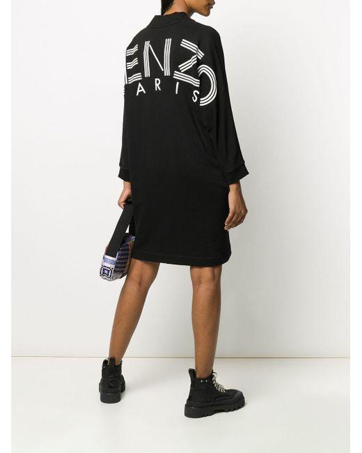 KENZO プリント ドレス Black